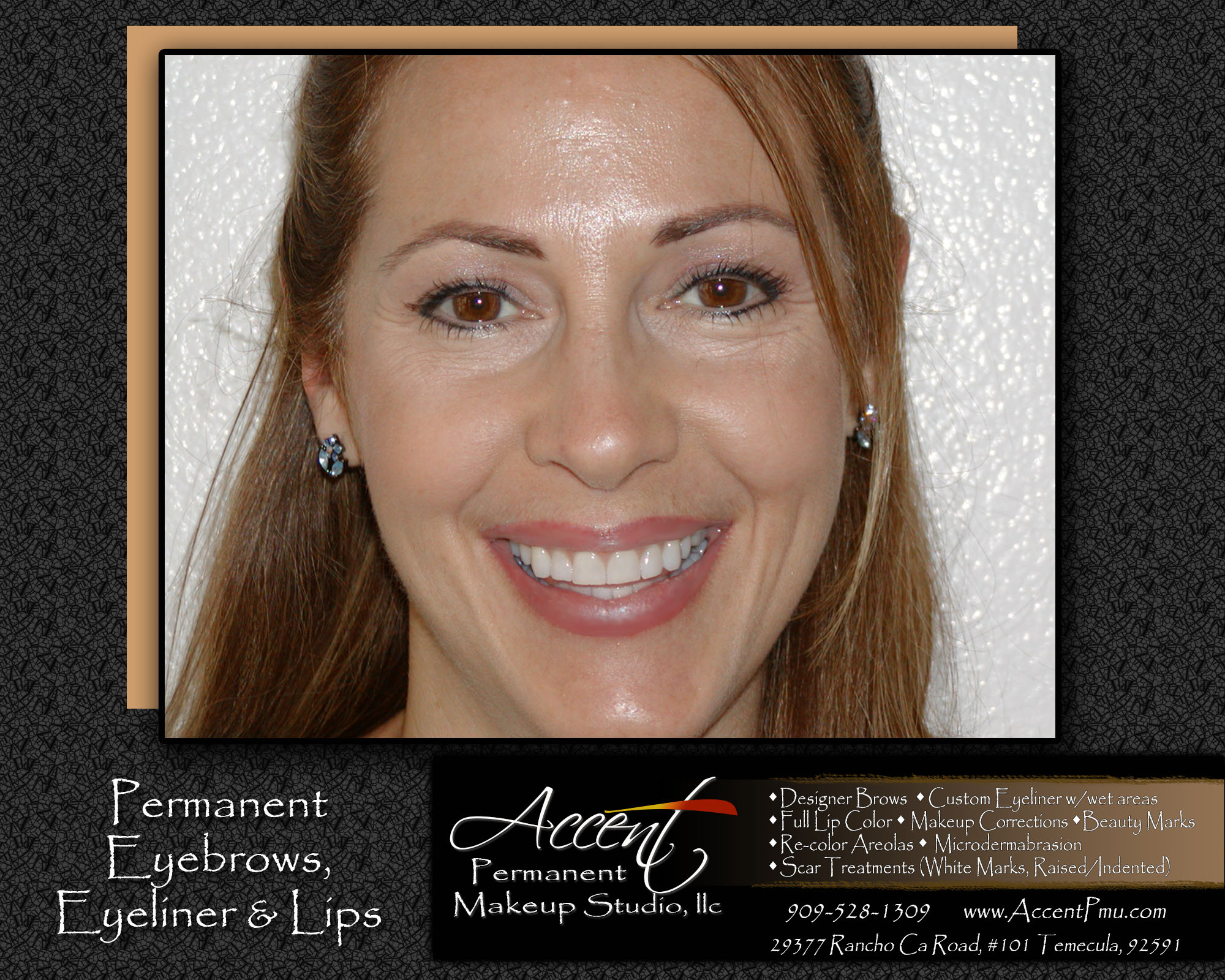 Accent Permanent Makeup Eyebrows, Eyeliner, Lips